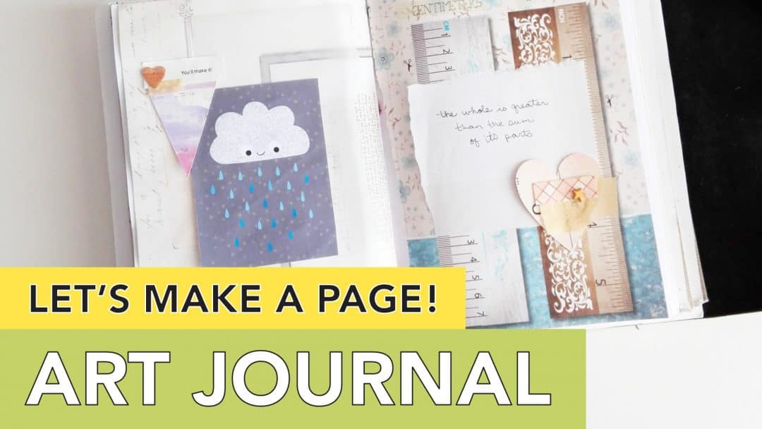 Let's make a page // art journaling with printables // tortagialla.com
