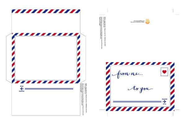 airmail greeting card printable