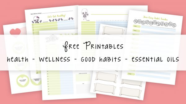 FREE Printables // health and wellness, habit trackers, essential oil printables