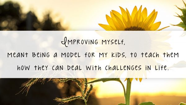 Improving myself, meant being a model for my kids, to teach them how they can deal with challenges in life. // https://www.tortagialla.com/essential-oils/