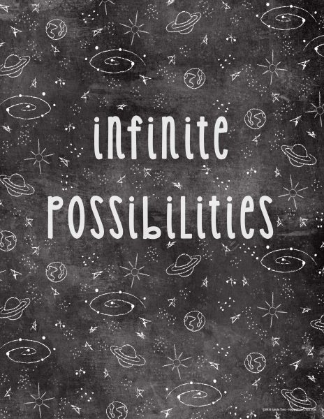 infinite possiblities art printable