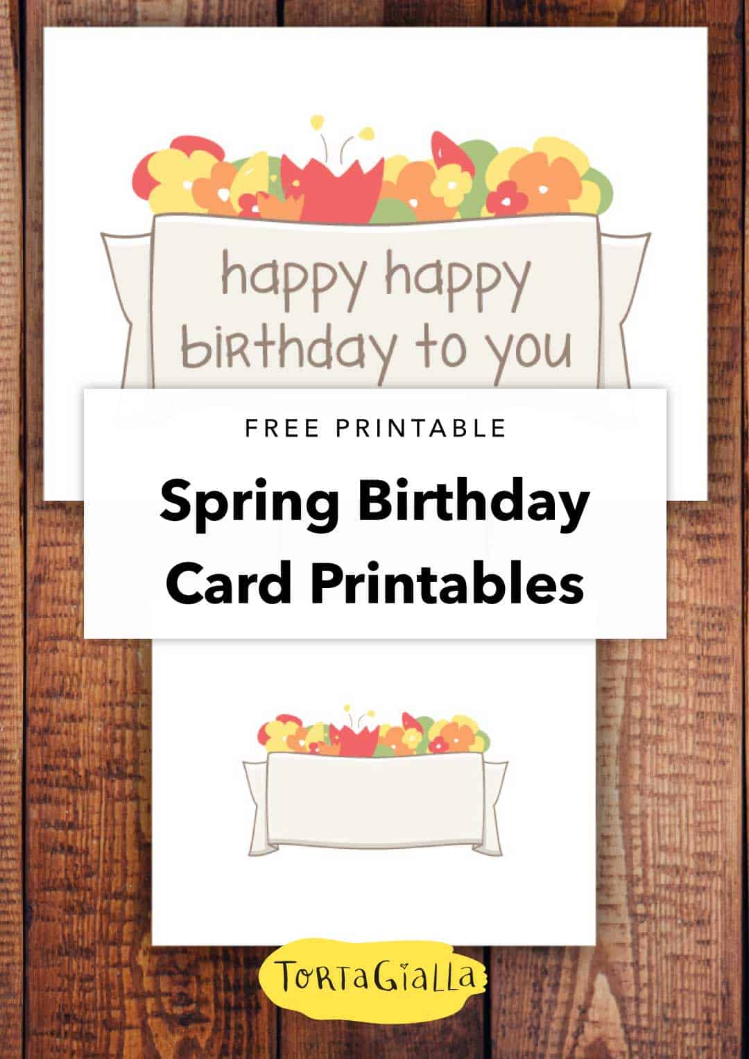 free printable spring birthday cards