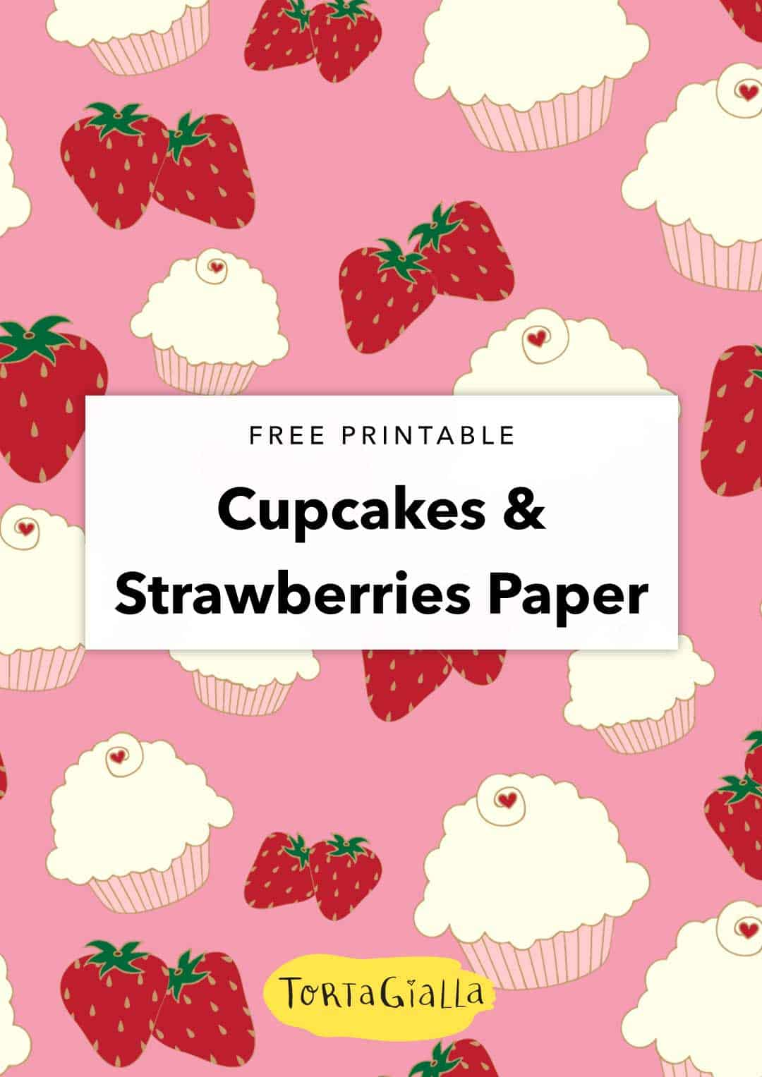 photograph regarding Printable Cupcakes titled Strawberries and Cupcakes Purple Electronic Paper tortagialla