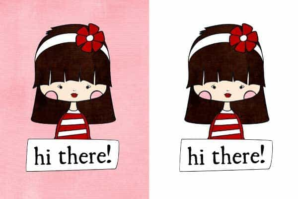 hi there cute girl printable notecards