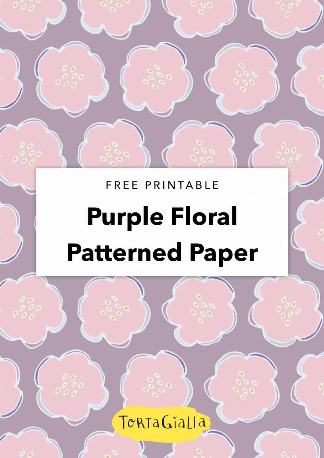 Check out this beautiful free digital paper featuring a pretty purple floral motif. Perfect for scrapbooking, cardmaking and various papercrafting projects.