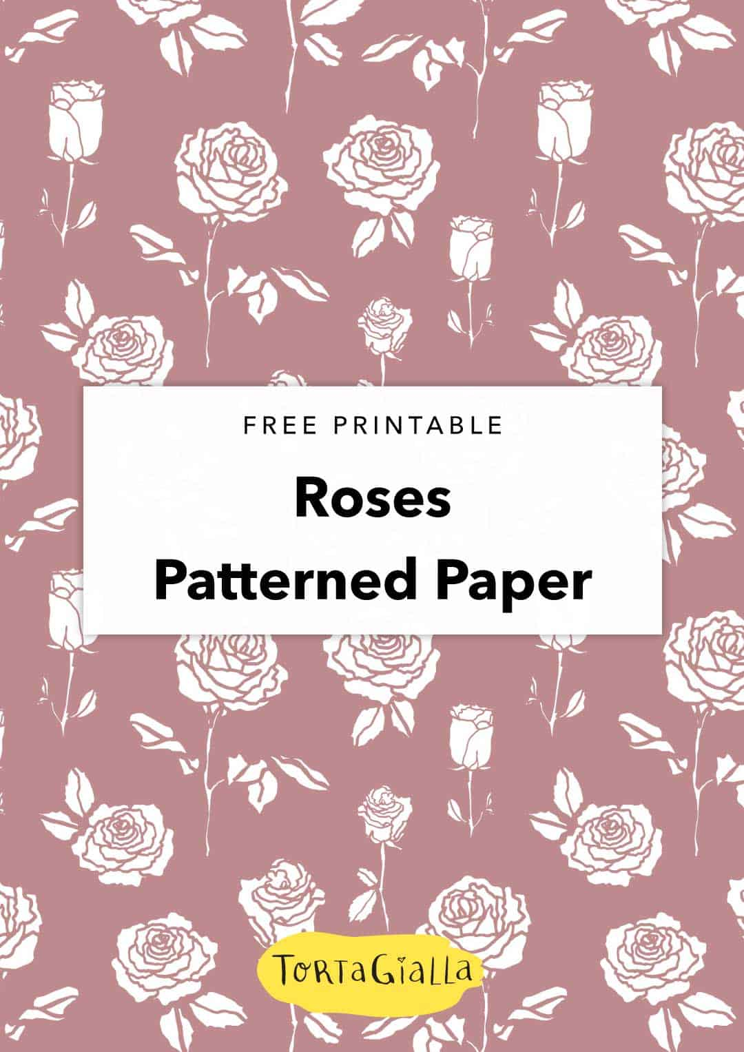 With a muted tone, the rose is a classic flower motif to use in your paper projects. Download this rose digital paper and let it stir up your creativity.