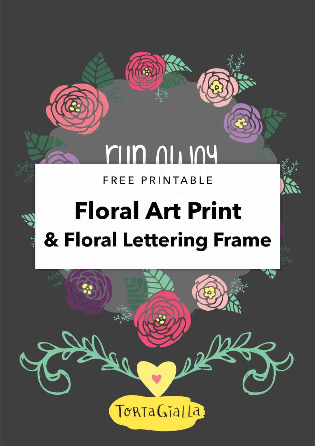 Looking for printable colored flowers? Check out this floral art printable that can be used as home decor for kids and nursery walls!