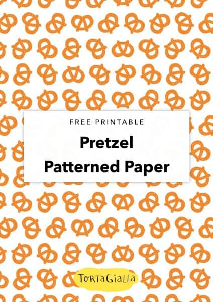 free printable pretzel patterned paper