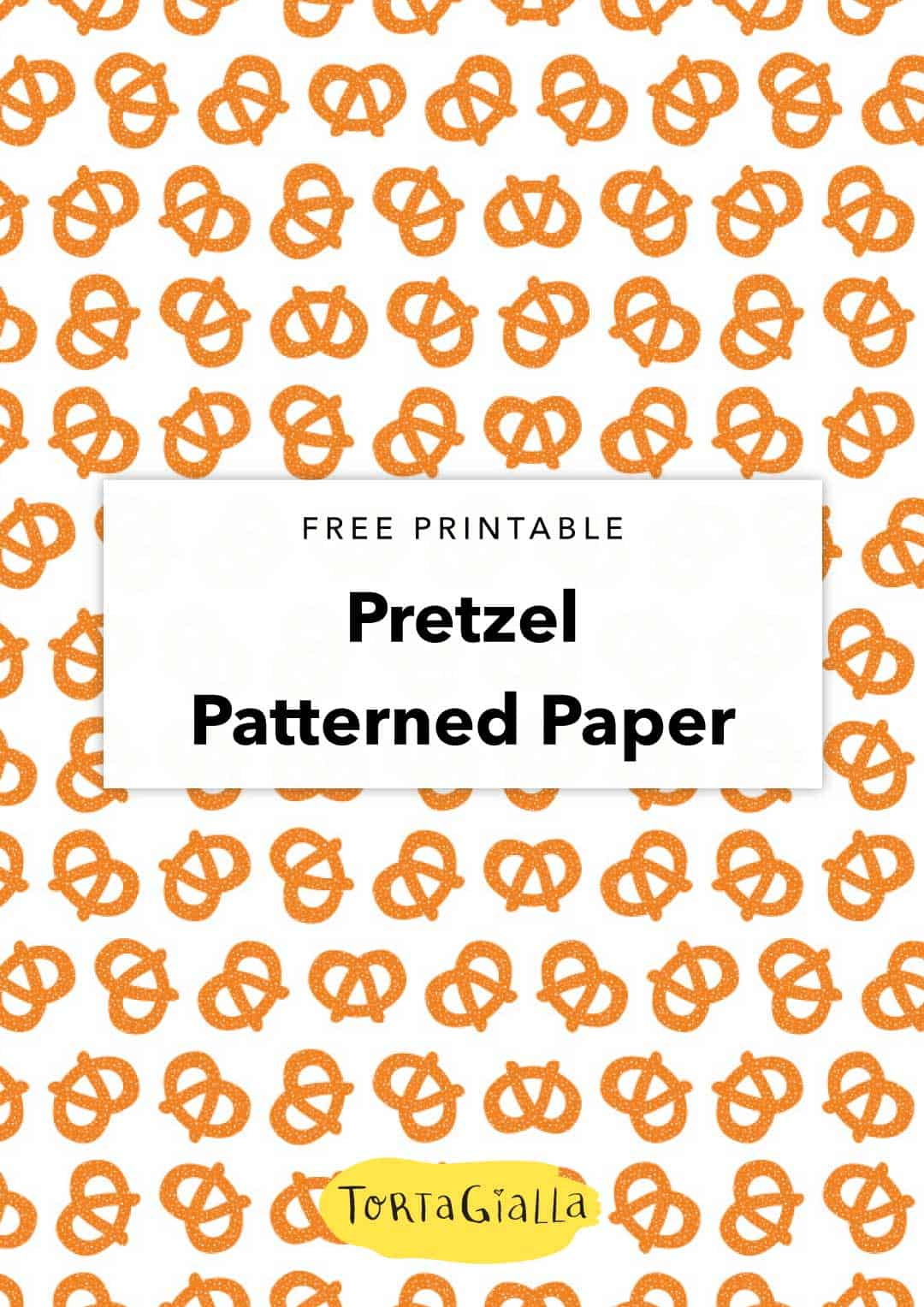 image about Printable Patterned Paper titled No cost Printable Pretzel Habit Paper tortagialla