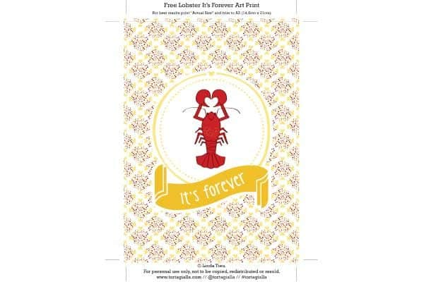 lobster its forever art print