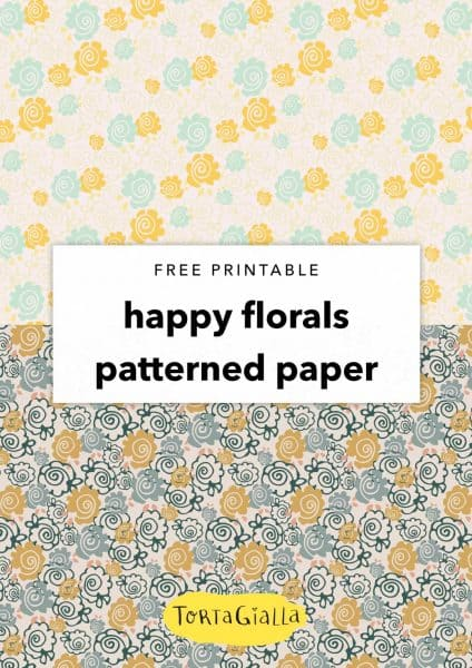 Free Printable Happy Florals Patterned Papers
