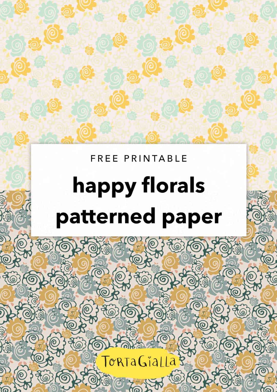 graphic relating to Printable Decorative Paper called Absolutely free Printable Attractive Paper - Content Florals tortagialla
