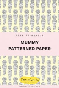 For Halloween - Free Printable Mummy Patterned Paper on tortagialla.com