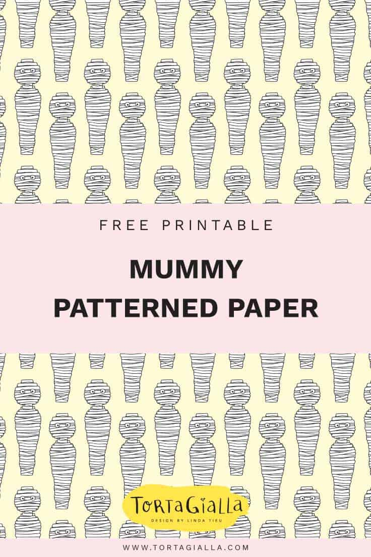 image about Printable Halloween Paper identify Mummy Habit Halloween Paper Printable tortagialla