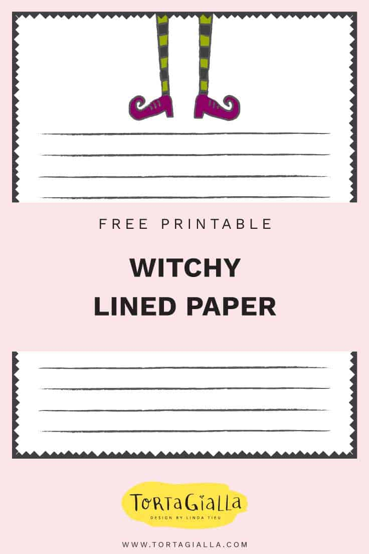 free printable witchy lined paper