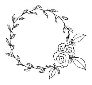 Free Printable Wreath Coloring and Lettering Page