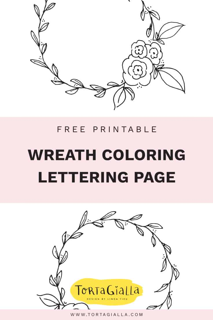 picture regarding Printable Wreath identify Cost-free Printable Wreath Coloring and Lettering Web site tortagialla
