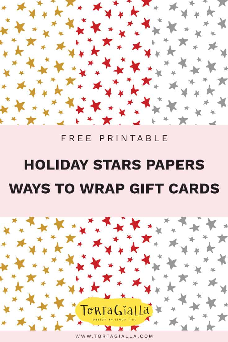 photograph regarding Printable Patterned Paper known as Tactics toward Wrap Reward Playing cards + Absolutely free Printable Holiday vacation Celebs