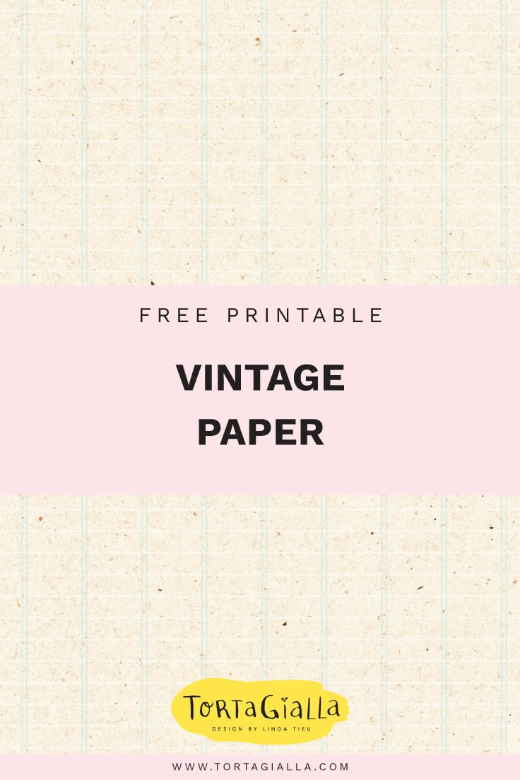 Download free printable vintage journal pages on tortagialla.com