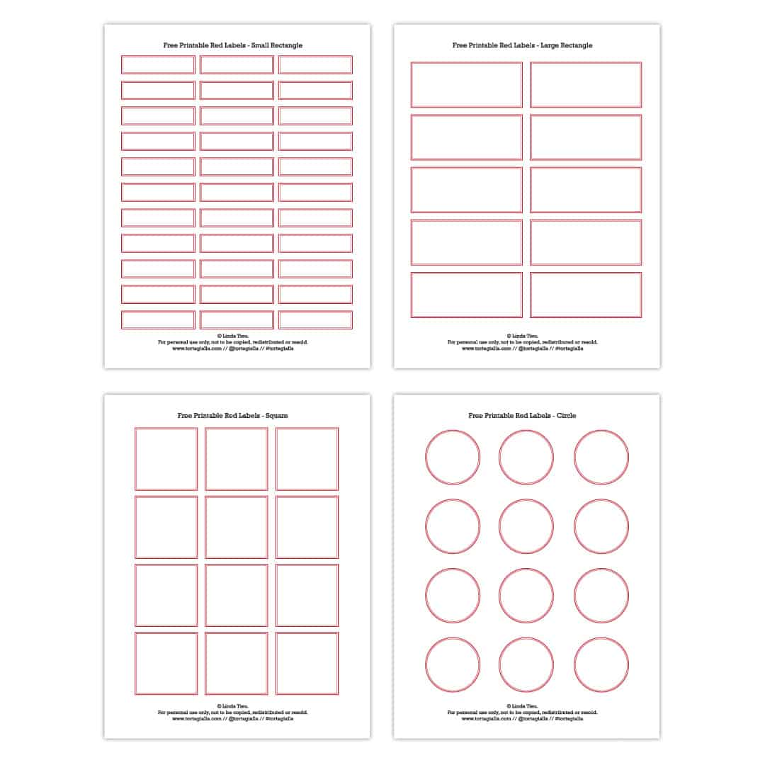 This is a picture of Dashing Small Printable Labels