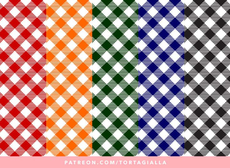 Classic Gingham Papers - Digital Printable Downloads on my exclusive Patreon feed: https://www.patreon.com/tortagialla