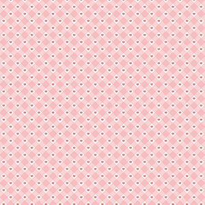 Valentine Gingham Heart Paper