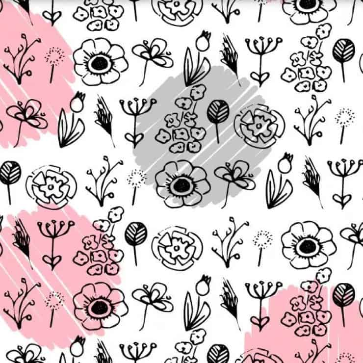 little blooms stationery set printable