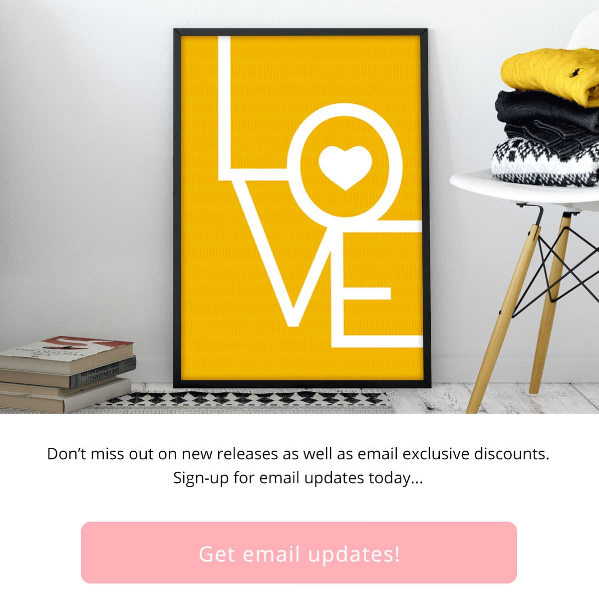 Don't miss out on new releases as well as email exclusive discounts. Sign-up for email updates today...
