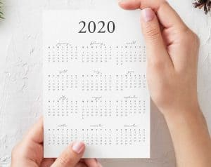 FREE 2020 yearly calendar printable download pdf