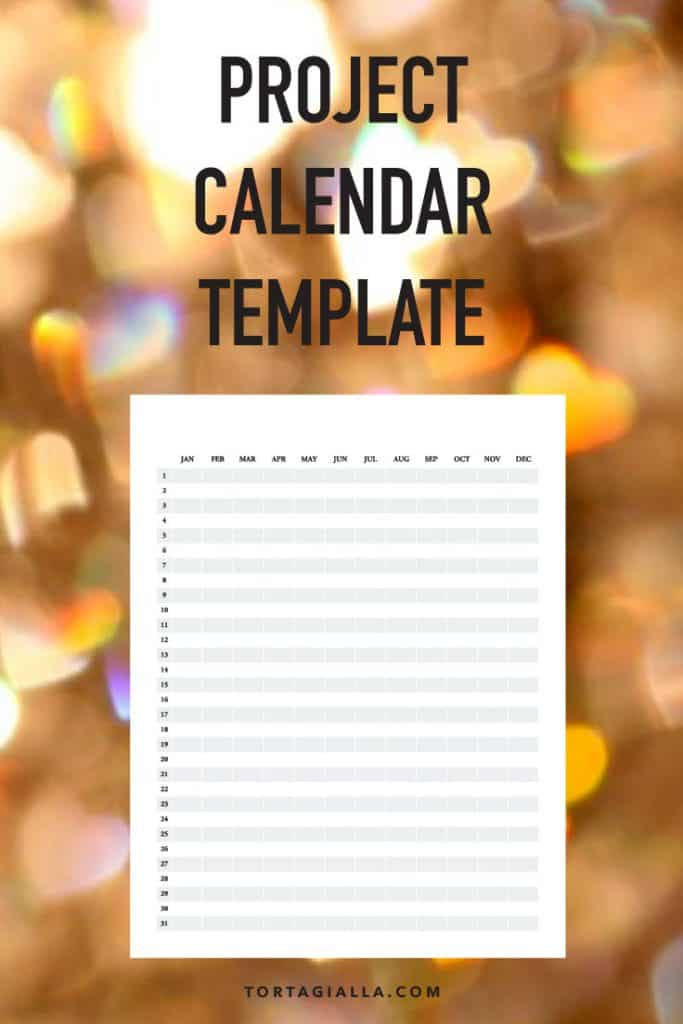 Project calendar template #freeprintable #printables #projectcalendar