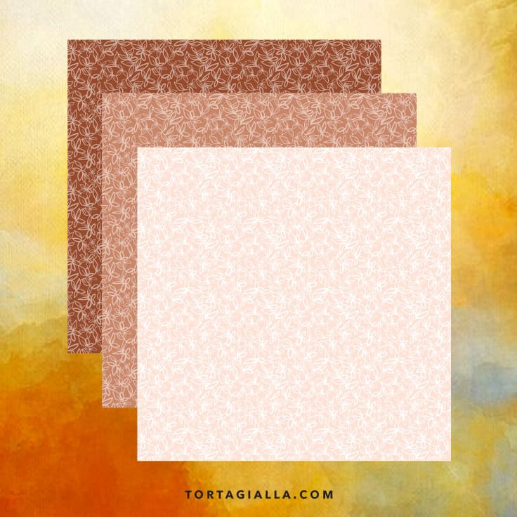 Autumn Leaves Scrapbook Papers Preview - free download on tortagialla.com #freeprintables #hybridscrapbooking #freebie