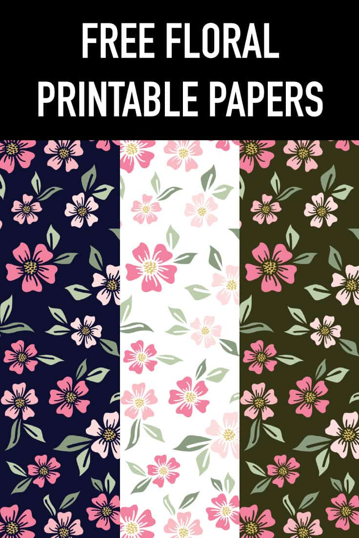 Check out  these free floral printable papers for scrapbooking, art journaling and more papercrafting fun - a free digital download on the blog!