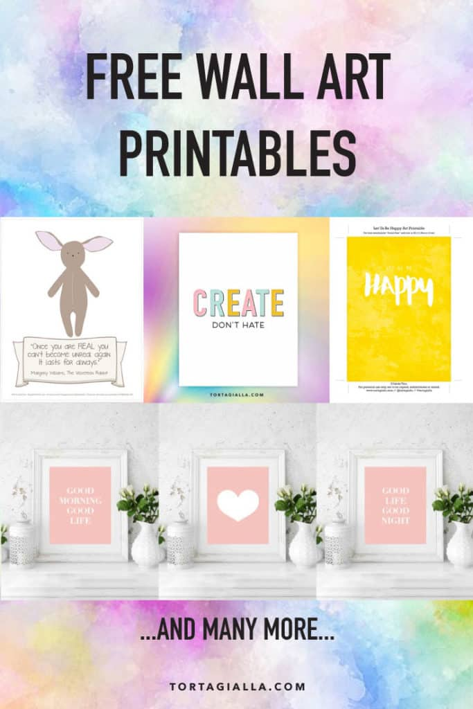Loads of free wall art printables on tortagialla blog for instant download.