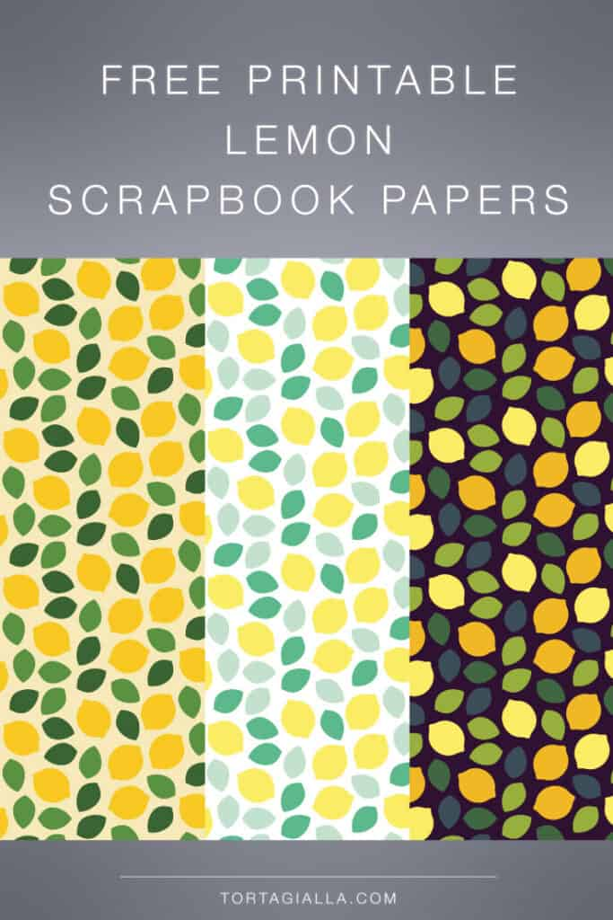 Freebie lemon scrapbook paper designs - yellow, light and dark versions to choose from!