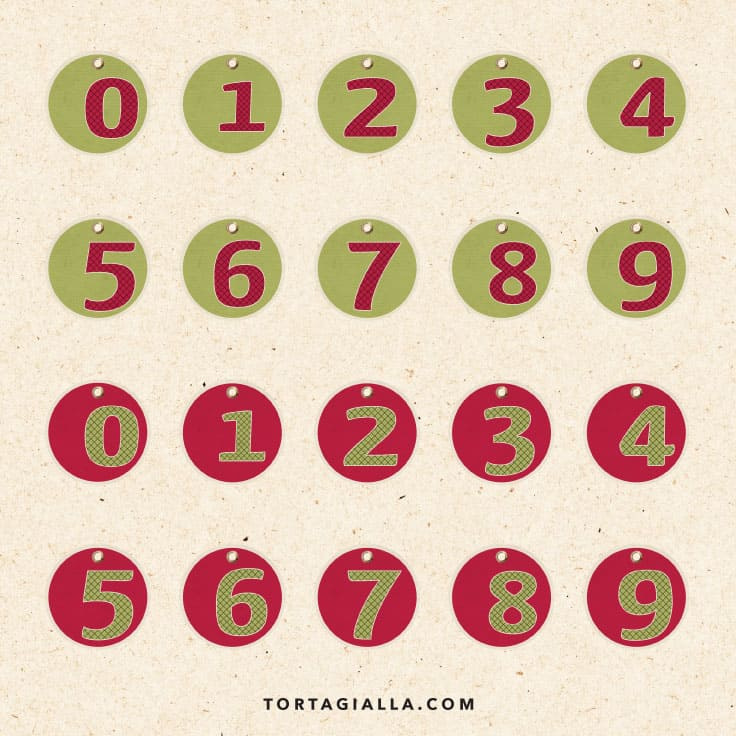 It's just a graphic of Christmas Numbers Printable with regard to advent calendar