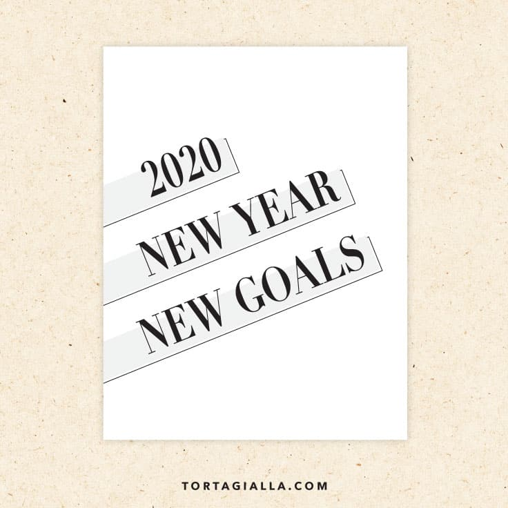 2020 new year new goals printable