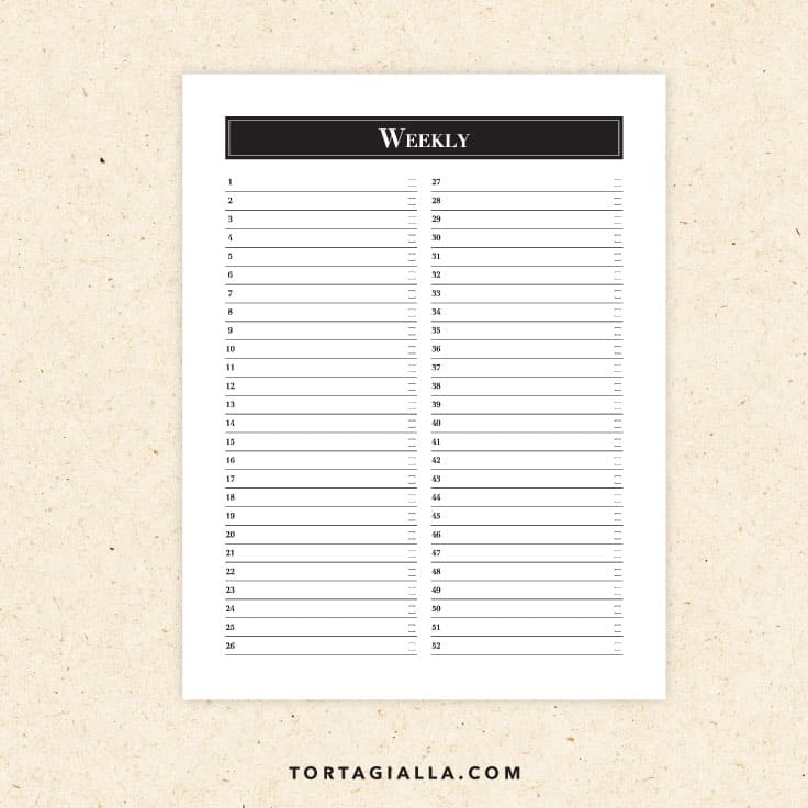 Preview of calendar printable weekly tracking and planning sheet.
