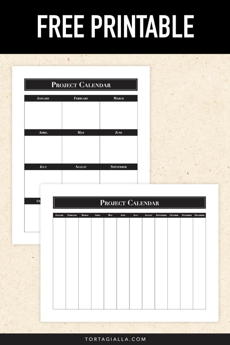 Use my project scheduling method to realistically plan your entire year on a FREE project calendar printable PDF download.