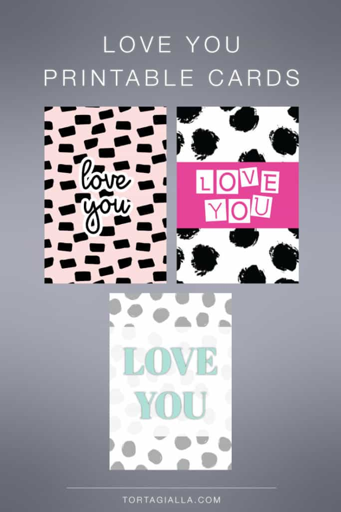 Love You Printable Cards - free download on tortagialla.com
