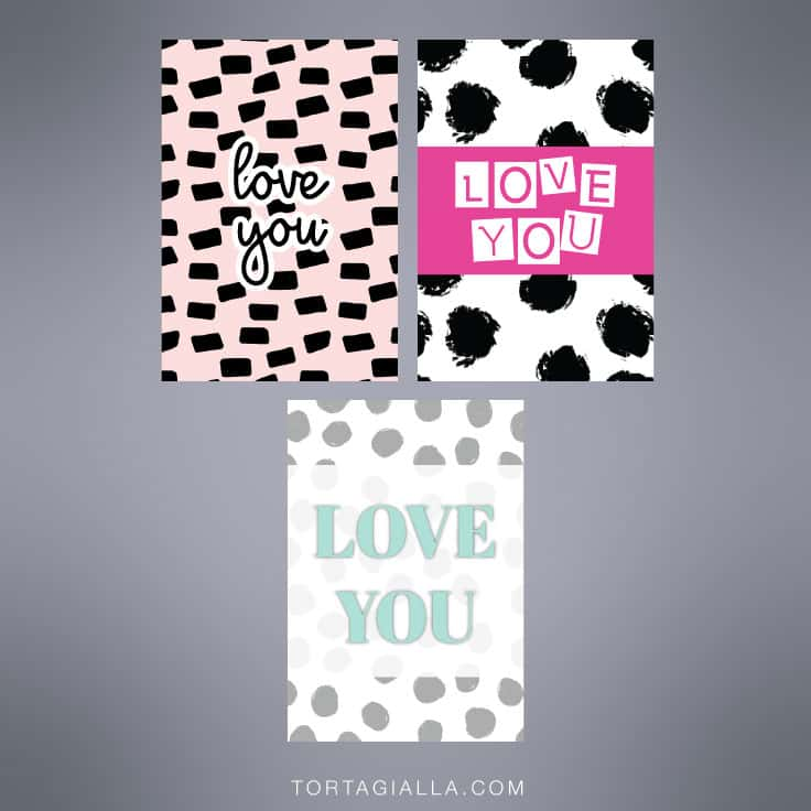 Download these free love you printable cards are chic and modern - free download on tortagialla.com