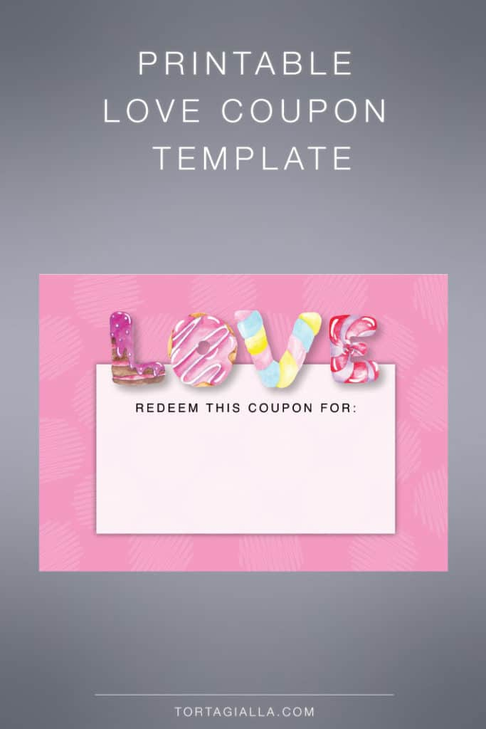 Printable love coupon template - download the free PDF so you can print at home.
