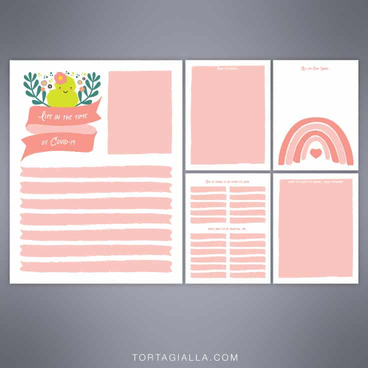 FREE DOWNLOAD - Covid-19 Time Capsule Printables by tortagialla.com