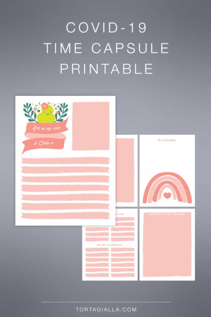 FREE download for Covid-19 Time Capsule Printable Pages