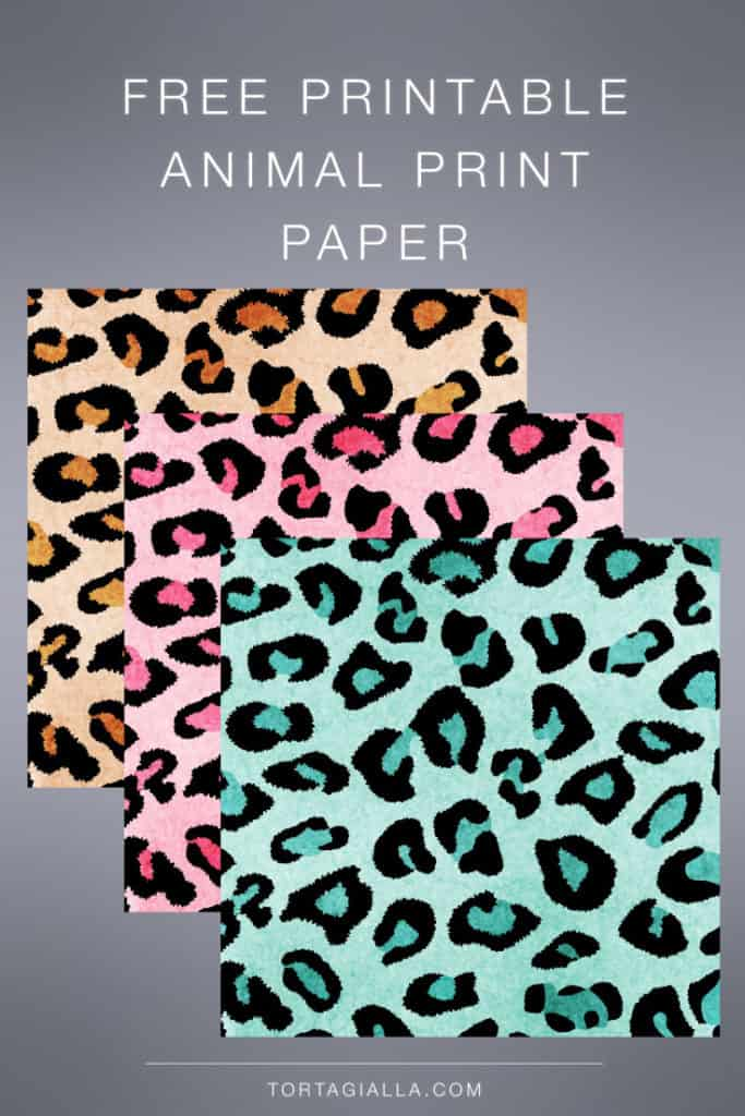 Download free printable animal print design papers for scrapbooking, art journaling and planner deco!