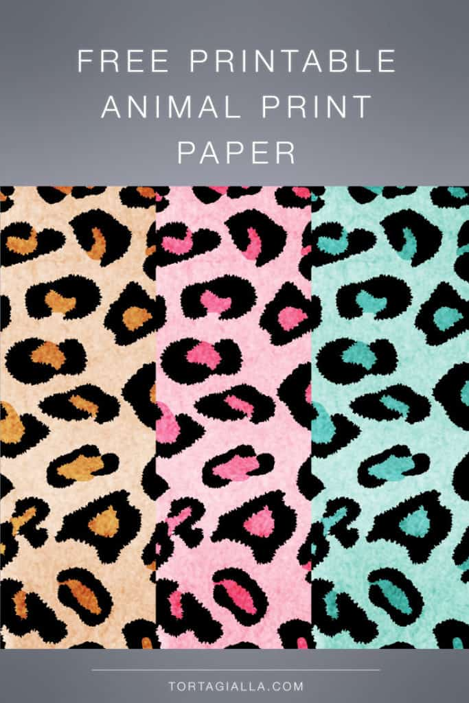 FREEBIE DOWNLOAD: Free printable animal print paper designs