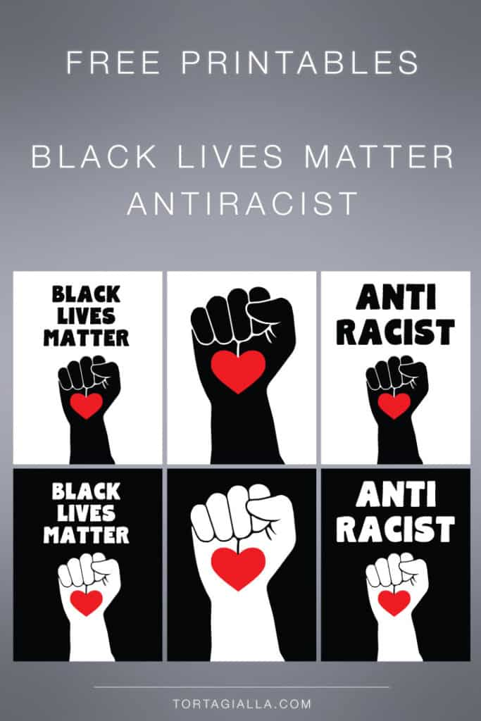 Printable Black Lives Matter and Anti Racist Poster Signs