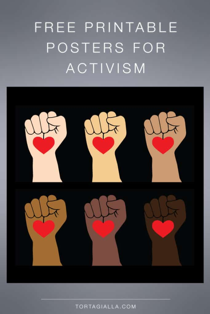 Freebie: Posters for Activism in multiple skintones