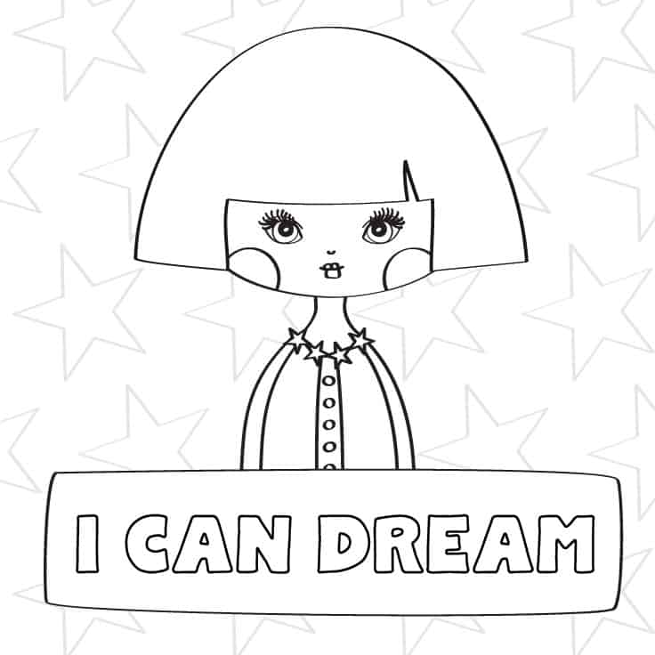coloring page for girls free printable