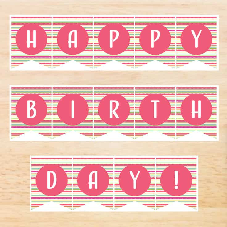 Birthday Banner Printable