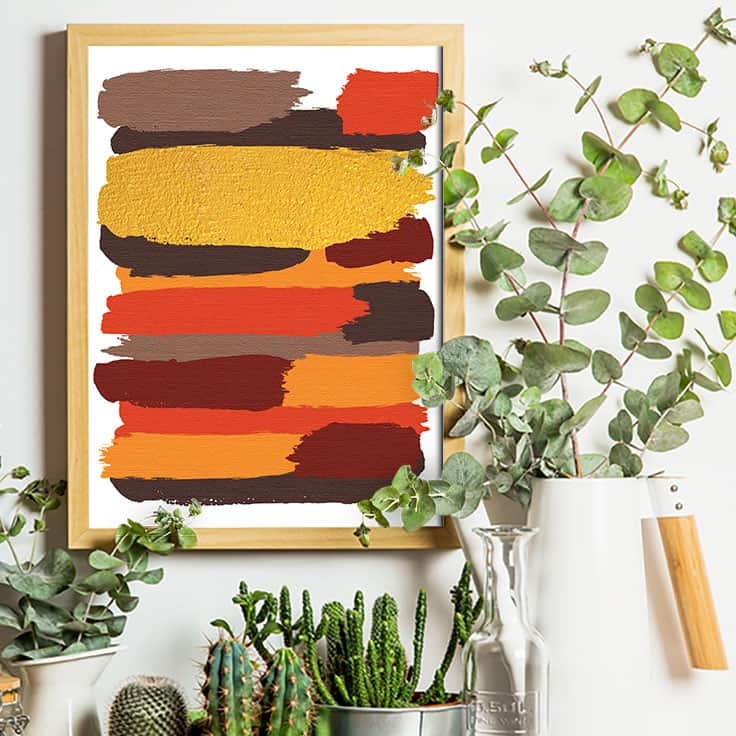 Free Digital Art Downloads - abstract art printable for fall